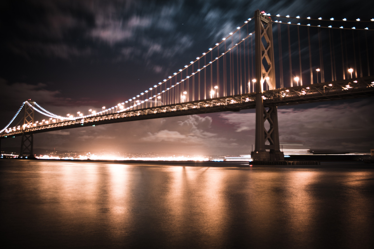 Another long exposure from last night. The Bay Bridge in all its golden glory.