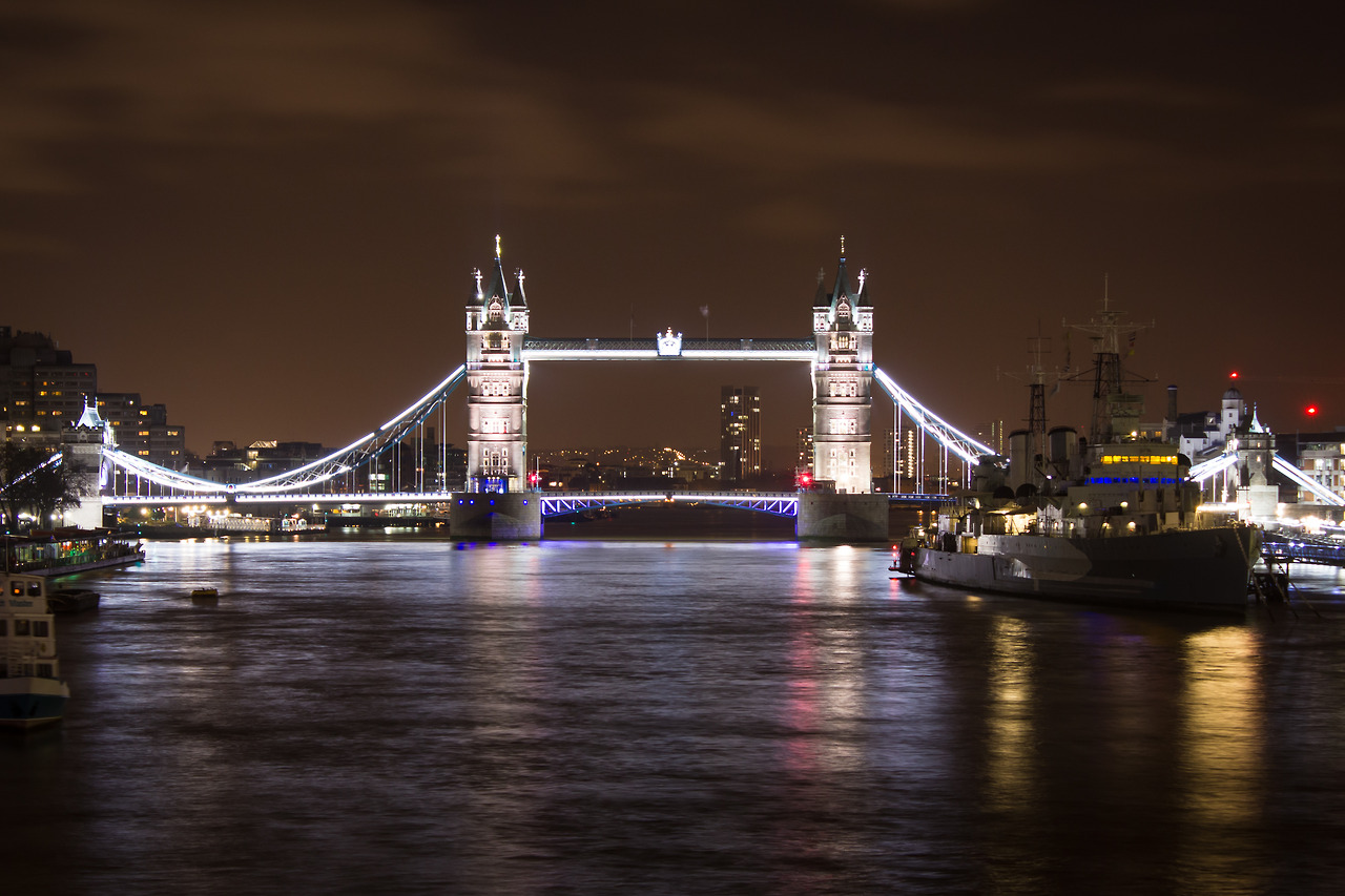 The London Bridge, long exposure.